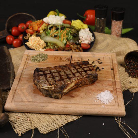 Black Plate New York Steak Profesyonel Fotoğraf Çekimi