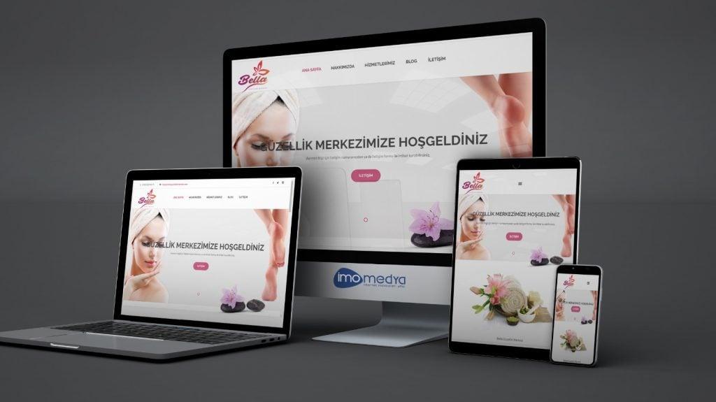 Bella Güzellik Merkezi Web Site Çalışması